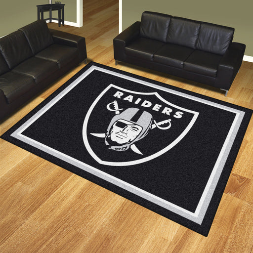 Oakland Raiders 8x10 Rug | Man Cave Authority | 17493 View 2