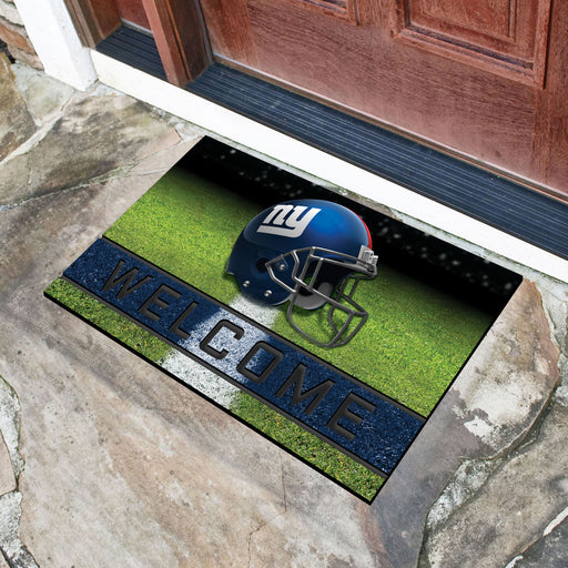 New York Giants Crumb Rubber Door Mat
