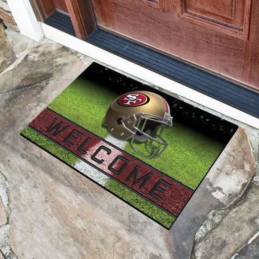 San Francisco 49ers Crumb Rubber Door Mat