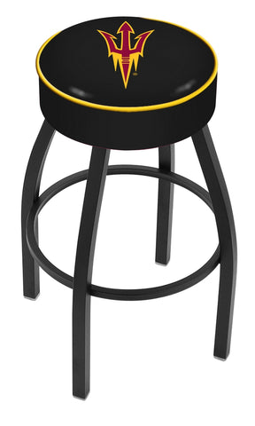 "Arizona State University 4"" Cushioned Bar Stool with Black or Chrome Base and Swivel Seat"
