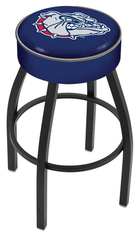 "Gonzaga 4"" Cushioned Bar Stool with Black or Chrome Base and Swivel Seat"