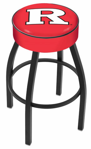 "Rutgers 4"" Cushioned Bar Stool with Black or Chrome Base and Swivel Seat"