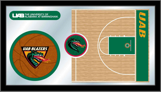 University of Alabama at Birmingham Basketball Bar Mirror | Man Cave Authority | MBsktAlaBir