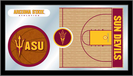 Arizona State University Basketball Bar Mirror | Man Cave Authority | MBsktArizSt