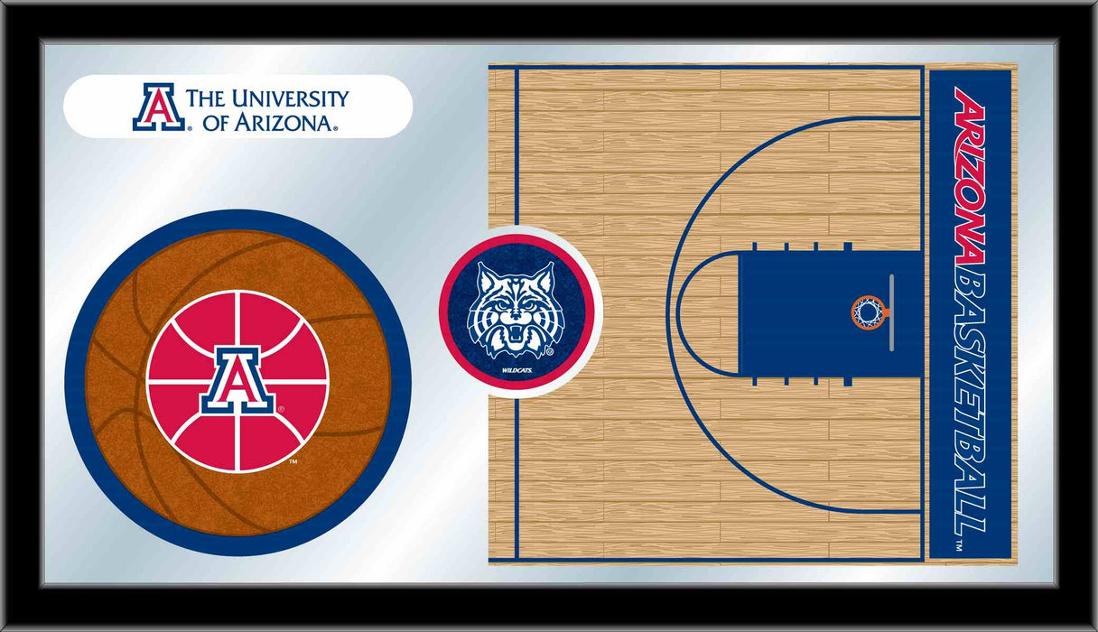 University of Arizona Basketball Bar Mirror | Man Cave Authority | MBsktArizUn
