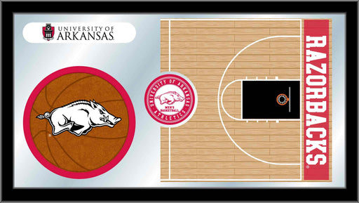 University of Arkansas Basketball Bar Mirror | Man Cave Authority | MBsktArknUn