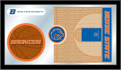 Boise State University Basketball Bar Mirror | Man Cave Authority | MBsktBoiseS