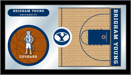 Brigham Young University Basketball Bar Mirror | Man Cave Authority | MBsktBrigYn