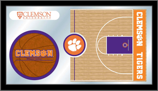 Clemson Basketball Bar Mirror | Man Cave Authority | MBsktClmson