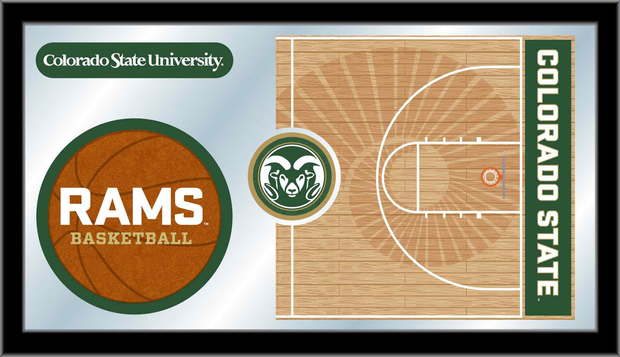 Colorado State University Basketball Bar Mirror | Man Cave Authority | MBsktColoSt
