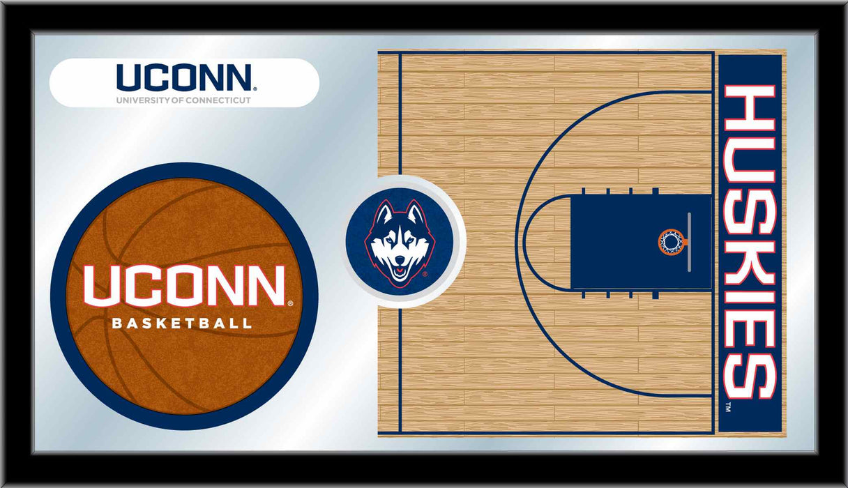 University of Connecticut Basketball Bar Mirror | Man Cave Authority | MBsktConnUn