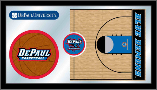 DePaul University Basketball Bar Mirror | Man Cave Authority | MBsktDePaul