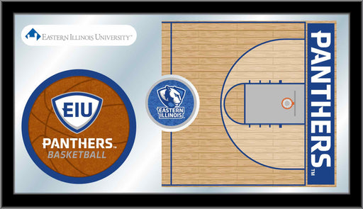 Eastern Illinois University Basketball Bar Mirror | Man Cave Authority | MBsktEastIL