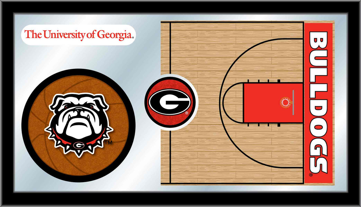 University of Georgia Basketball Bar Mirror | Man Cave Authority | MBsktGA-Un