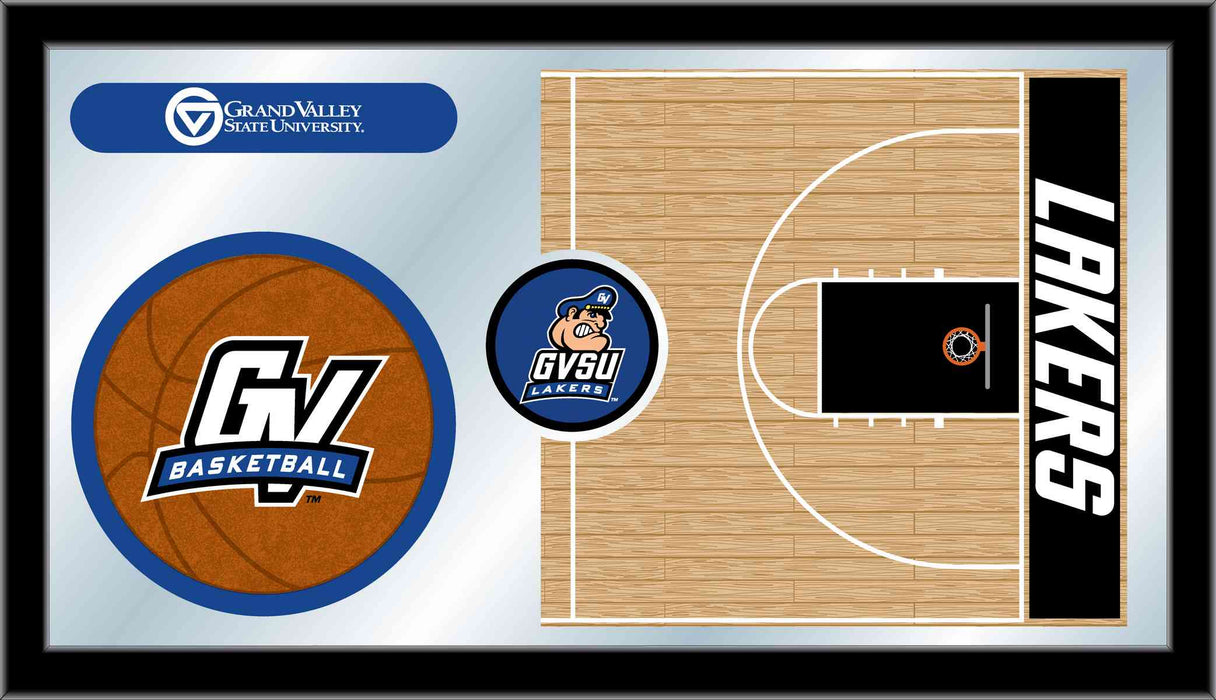Grand Valley State University Basketball Bar Mirror | Man Cave Authority | MBsktGVStUn