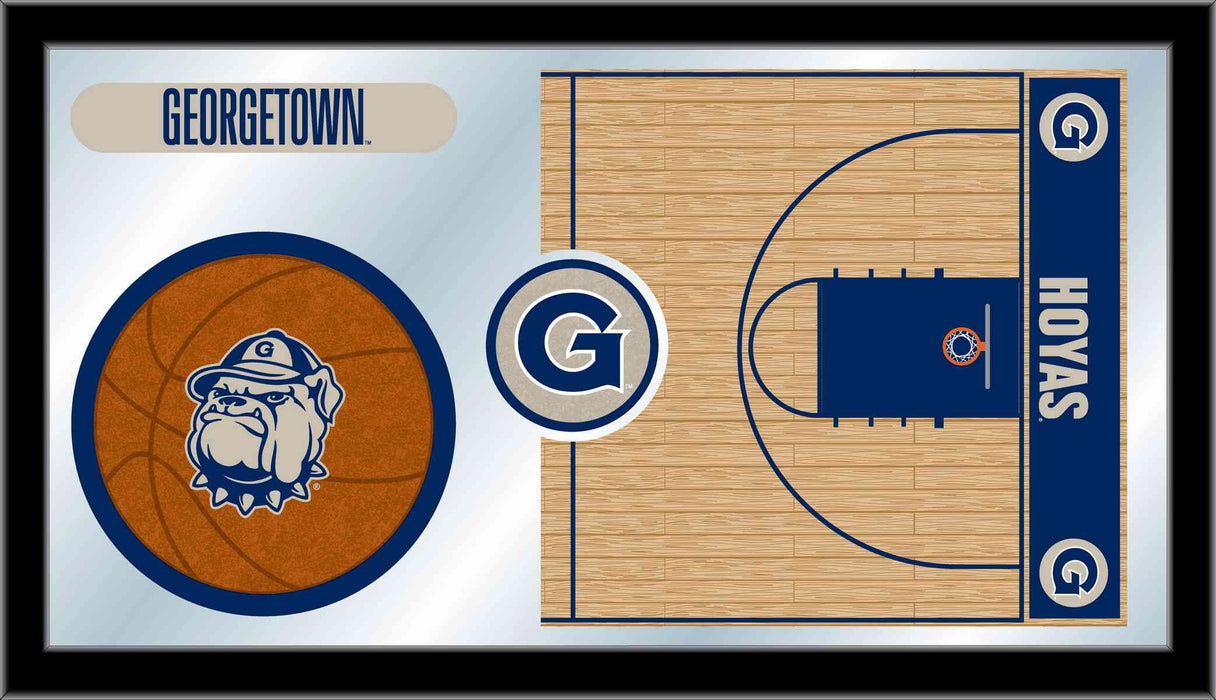 Georgetown University Basketball Bar Mirror | Man Cave Authority | MBsktGrgtwn