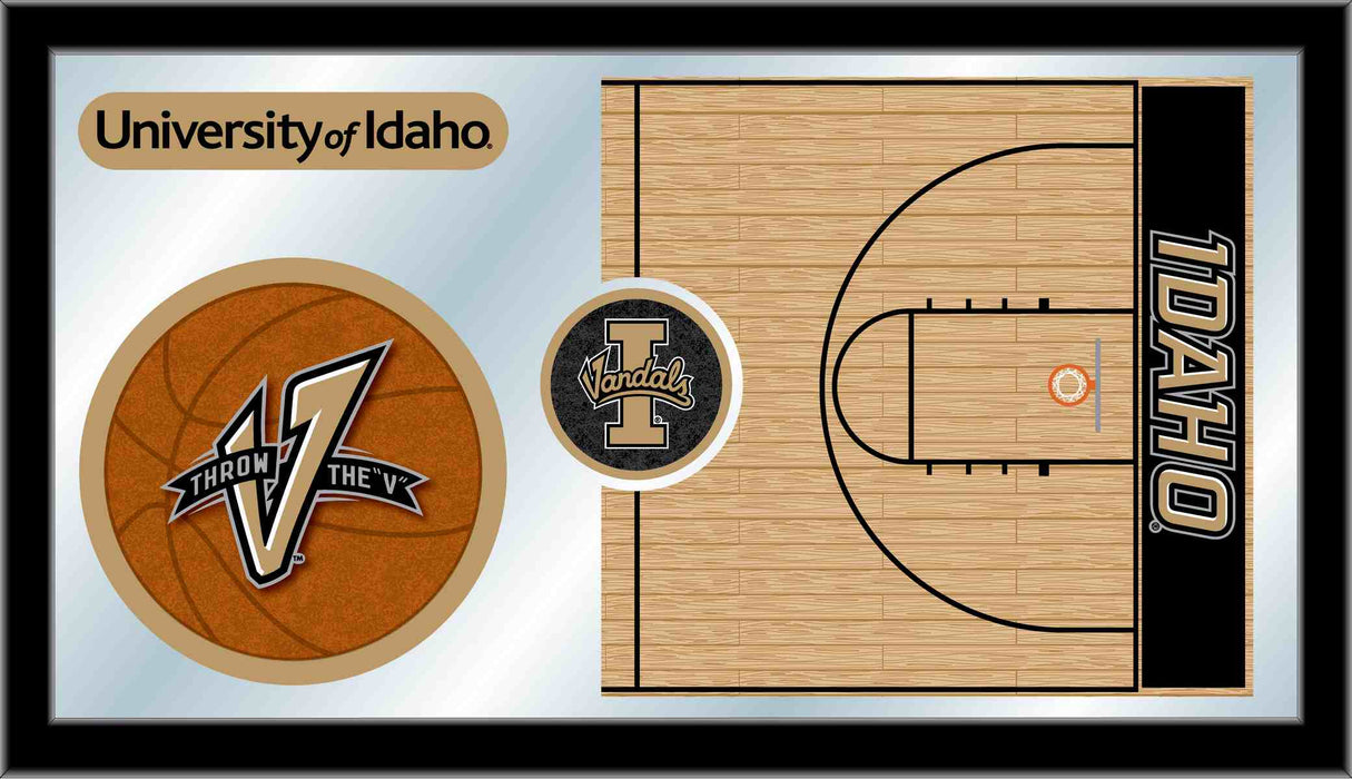 University of Idaho Basketball Bar Mirror | Man Cave Authority | MBsktIdahoU