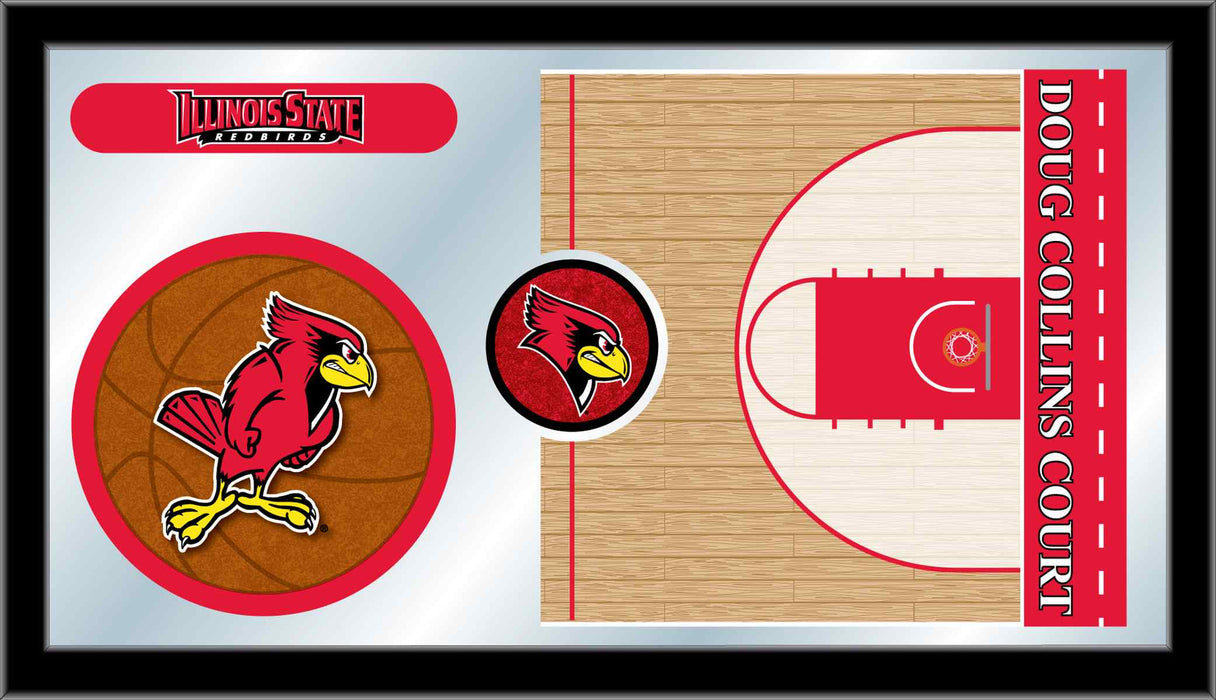 Illinois State University Basketball Bar Mirror | Man Cave Authority | MBsktIllStU