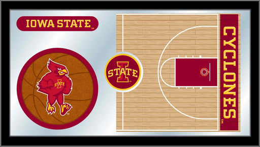 Iowa State University Basketball Bar Mirror | Man Cave Authority | MBsktIowaSt