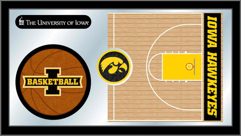 University of Iowa Basketball Bar Mirror
