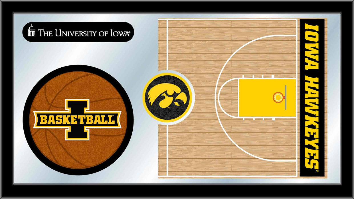 University of Iowa Basketball Bar Mirror | Man Cave Authority | MBsktIowaUn