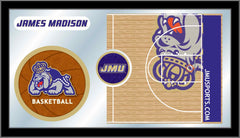 James Madison University Basketball Bar Mirror | Man Cave Authority | MBsktJmsMad