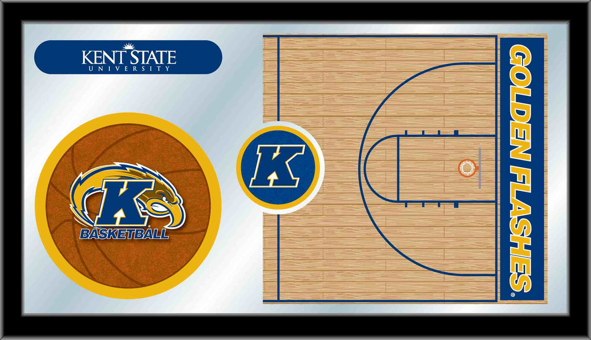 Kent State University Basketball Bar Mirror | Man Cave Authority | MBsktKentSt