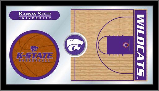 Kansas State University Basketball Bar Mirror | Man Cave Authority | MBsktKnsasS