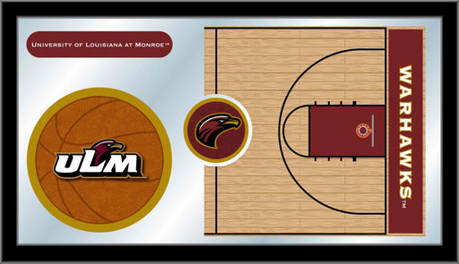 University of Louisiana at Monroe Basketball Bar Mirror | Man Cave Authority | MBsktLA-Mon