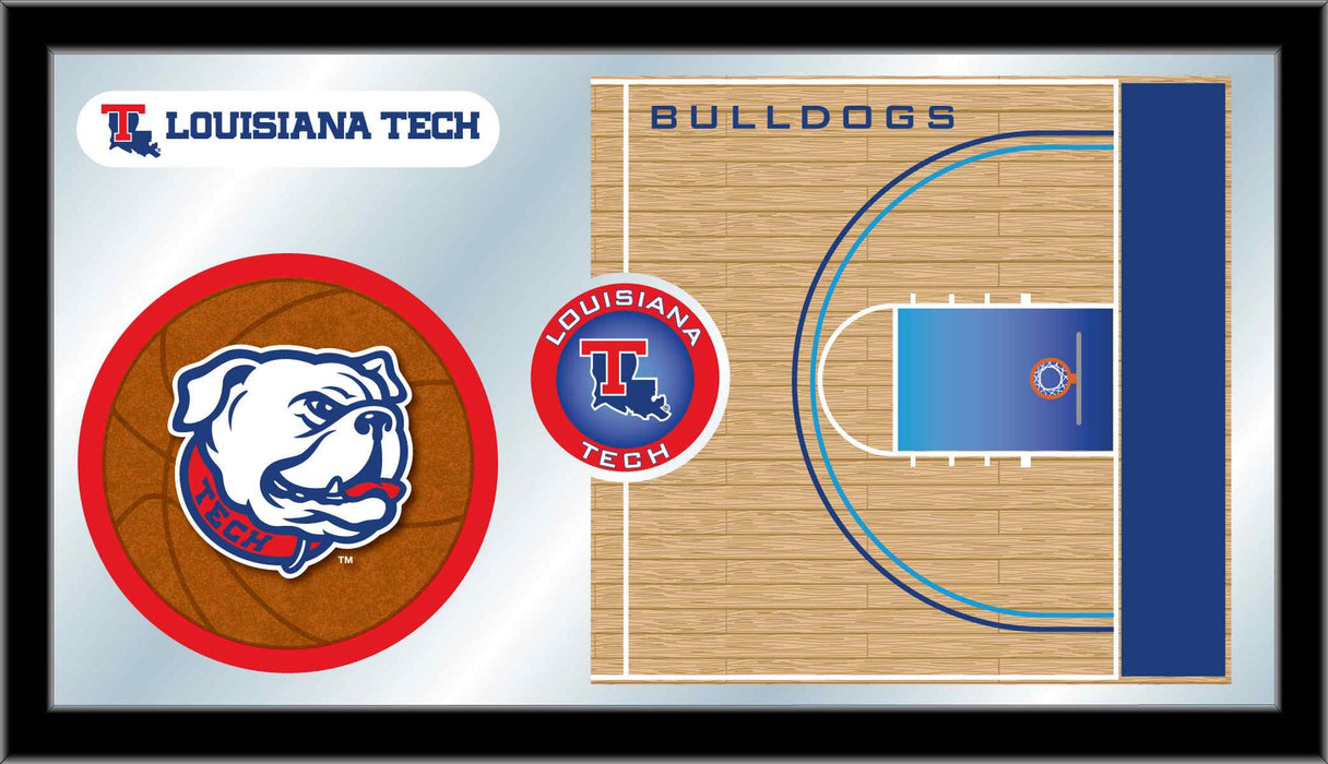 Louisiana Tech University Basketball Bar Mirror | Man Cave Authority | MBsktLaTech