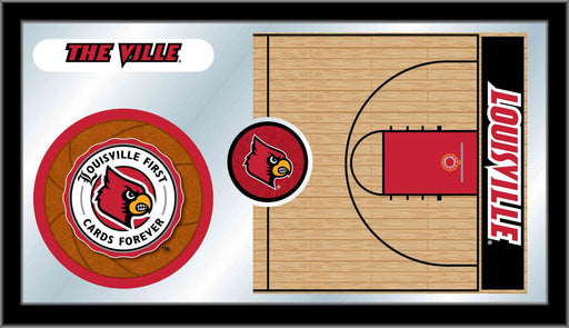 University of Louisville Basketball Bar Mirror | Man Cave Authority | MBsktLville