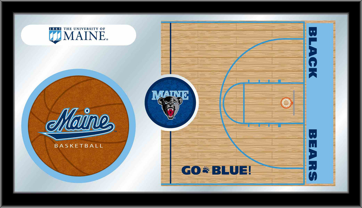 University of Maine Basketball Bar Mirror | Man Cave Authority | MBsktMaineU