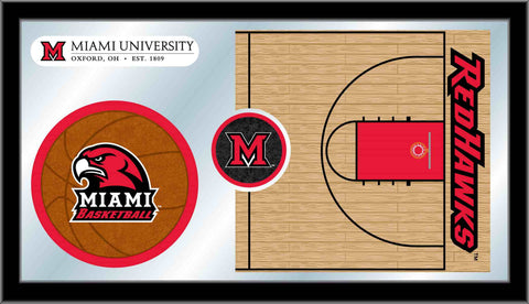 University of Miami (OH) Basketball Bar Mirror