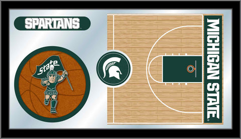 Michigan State University Basketball Bar Mirror