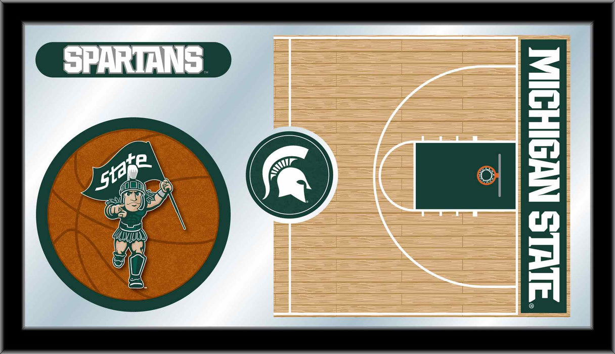 Michigan State University Basketball Bar Mirror | Man Cave Authority | MBsktMichSt