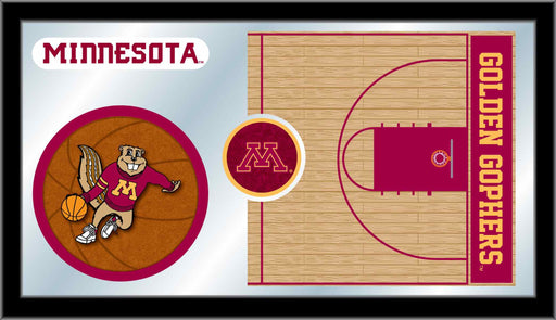 University of Minnesota Basketball Bar Mirror | Man Cave Authority | MBsktMinnUn