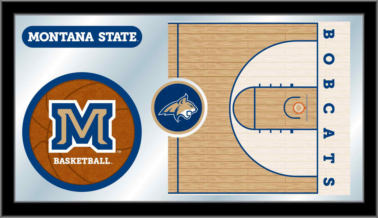 Montana State University Basketball Bar Mirror | Man Cave Authority | MBsktMontSt