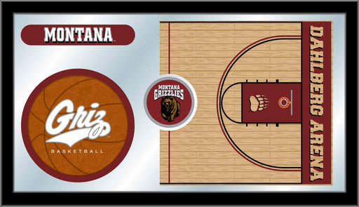 University of Montana Basketball Bar Mirror | Man Cave Authority | MBsktMontUn