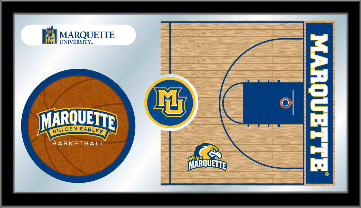 Marquette University Basketball Bar Mirror | Man Cave Authority | MBsktMrqtte