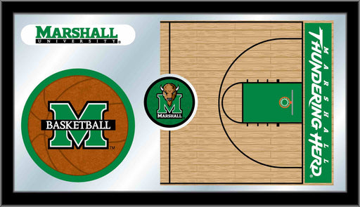 Marshall University Basketball Bar Mirror | Man Cave Authority | MBsktMrshll