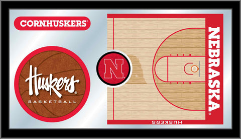 University of Nebraska Basketball Bar Mirror