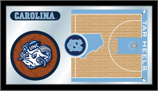 University of North Carolina Basketball Bar Mirror | Man Cave Authority | MBsktNorCar