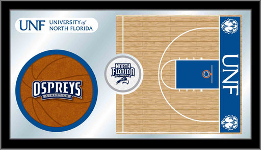 University of North Florida Basketball Bar Mirror | Man Cave Authority | MBsktNorFla