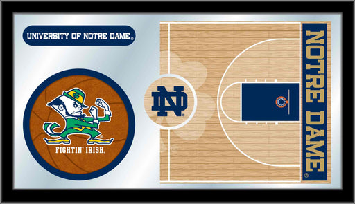 University of Notre Dame Basketball Bar Mirror | Man Cave Authority | MBsktNotreD