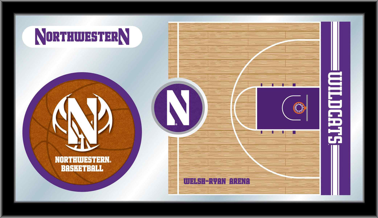 Northwestern University Basketball Bar Mirror | Man Cave Authority | MBsktNthwst