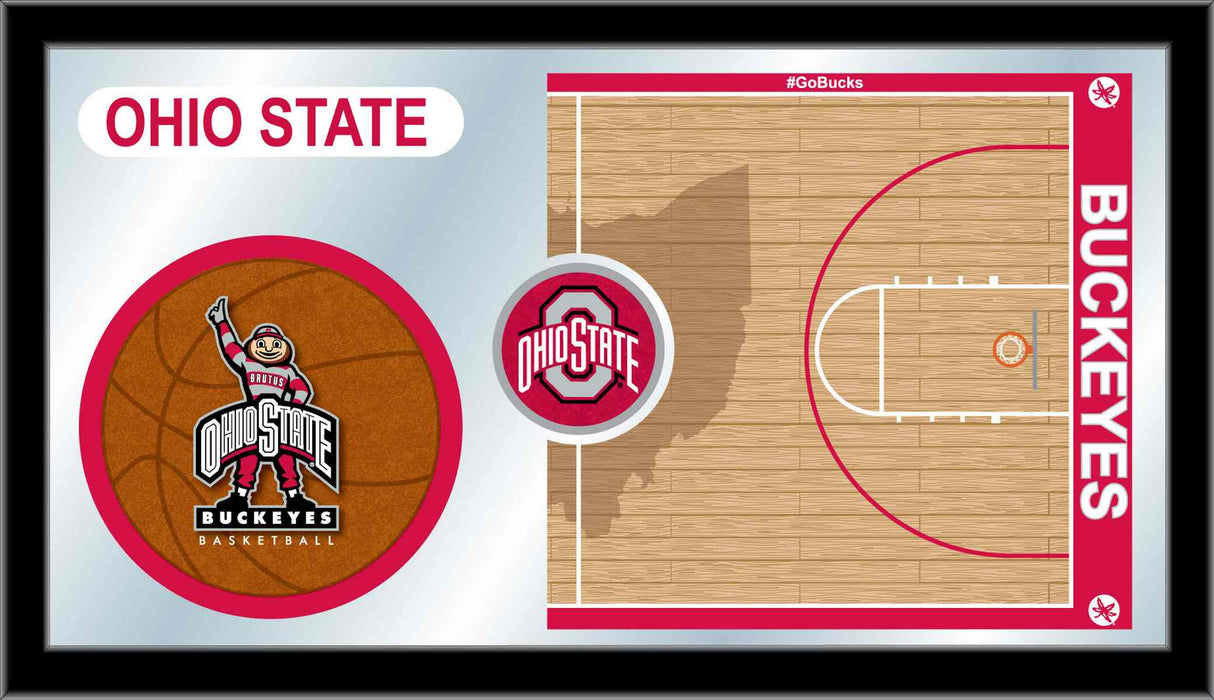 Ohio State University Basketball Bar Mirror | Man Cave Authority | MBsktOhioSt