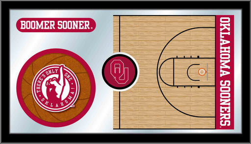 Oklahoma University Basketball Bar Mirror | Man Cave Authority | MBsktOklhma