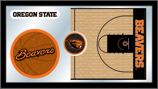 Oregon State University Basketball Bar Mirror | Man Cave Authority | MBsktOregSt