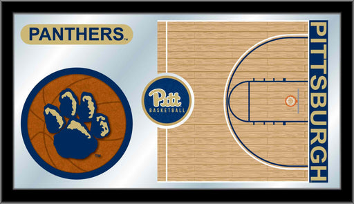 University of Pittsburgh Basketball Bar Mirror | Man Cave Authority | MBsktPittsb