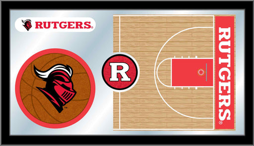 Rutgers Basketball Bar Mirror | Man Cave Authority | MBsktRutger